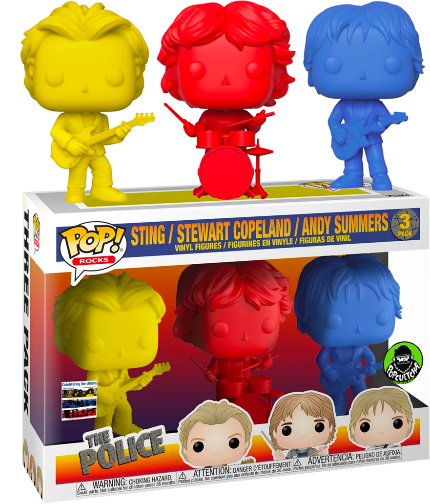 The Police Sting Copeland Summers 3 Pack Farbes Funko Pop Vinyls New in Box