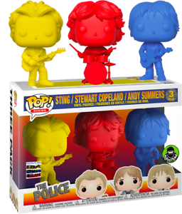 The Police Sting Copeland Summers 3 Pack Colors Funko Pop Vinyls New in Box