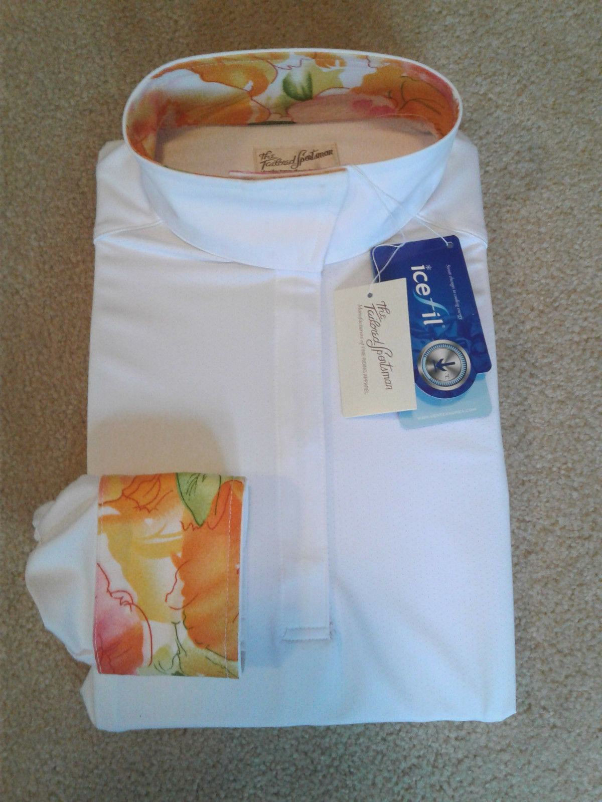 Tailored Sportsman Ladies IceFil Equestrian Horse Show Shirt, Tropical  NWT  cost-effective
