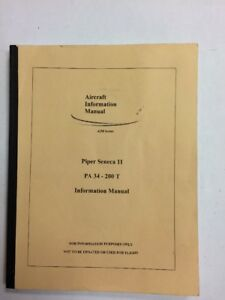 piper seneca ii pa34 200t information manual reproduction ebay rh ebay com Of PA34 Because Cashing Turbulancec PA Act 34