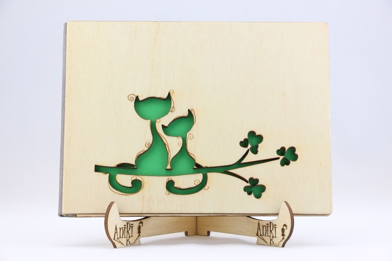 Personalisiert Gästebuch, Holz Holz Holz Gästebuch, Hochzeit, Katzen, Baum, Herzen, Zweig | Mangelware  | Guter Markt  | Economy  7b7b62
