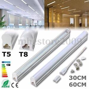 30/60cm T5/T8 G13 LED Fluorescent Tube Light Bar Lamp Fixture Bulb ...