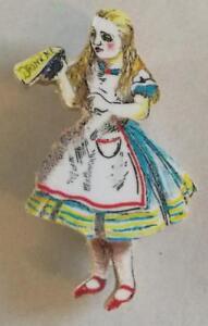 Wooden-Alice-In-Wonderland-039-Drink-Me-039-Brooch-Badge-made-UK-New