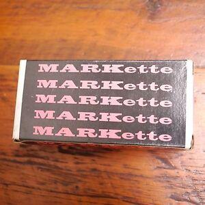 Box Lot 12 NEW Vtg Eberhard Faber MARKette 690 BLUE Thinrite Permanent MARKERS