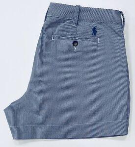 Ralph-Lauren-Damen-Shorts-in-antik-weiss-und-Himmelblau
