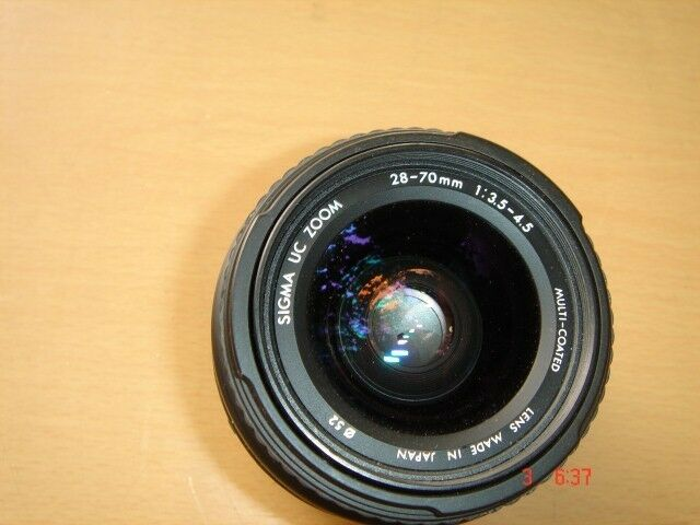 Sigma Auto focus 28mm-70mm, 1: 3.5-4.5. Made in Japan