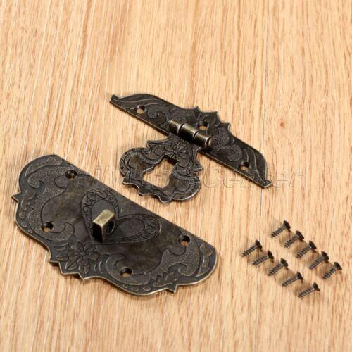 Decorative Jewelry Box Latch Trinket Box Hasp Antique Brass Embossing Hardware