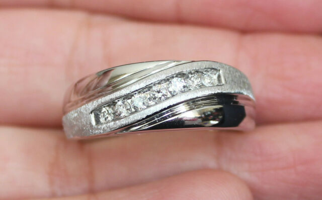 New Kay Jewelers 14k Size 10 1 4ct Diamond Mens Wedding Band 7g Ring