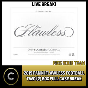 2019-PANINI-FLAWLESS-FOOTBALL-2-BOX-FULL-CASE-BREAK-F448-PICK-YOUR-TEAM
