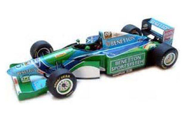 MINICHAMPS 183 000111 510 941805 BENETTON F1 model cars Button   Schumacher 1 18