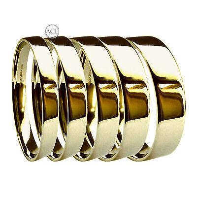 9ct Yellow Gold Wedding Rings Flat Court Profile Bands Hm Heavy 3, 4, 5, 6 & 8mm Ein Bereicherung Und Ein NäHrstoff FüR Die Leber Und Die Niere