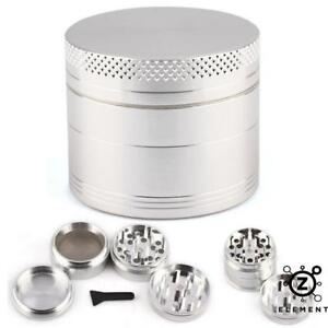 40mm-Silver-Metal-Aluminium-Hand-Grinder-4-Part-Tobacco-Herb-Crusher-Muller-IE