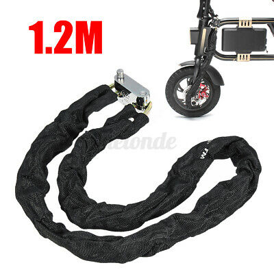 3.93ft Heavty Duty Chain Padlock Anti-theft FOR Motorcycle Scooter Bike Safety