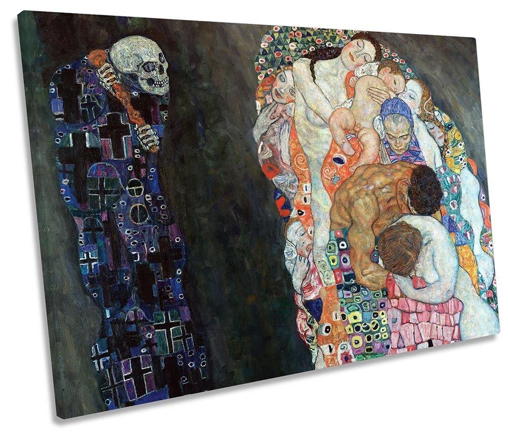 Gustav Klimt Death And Life SINGLE CANVAS WALL ART Print