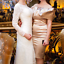 Karen-Millen-Champagne-Bardot-Satin-Pencil-Wedding-Party-Dress-Prom-6-to-16-New thumbnail 3