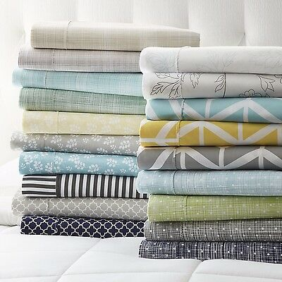4 Piece Patterned Sheet Sets - 7 Beautiful Designs - Super Soft Feel!