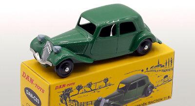 Toit Argent DAN TOYS  Simca Aronde Elysée Vert Métal Série de 500 Exemplaires