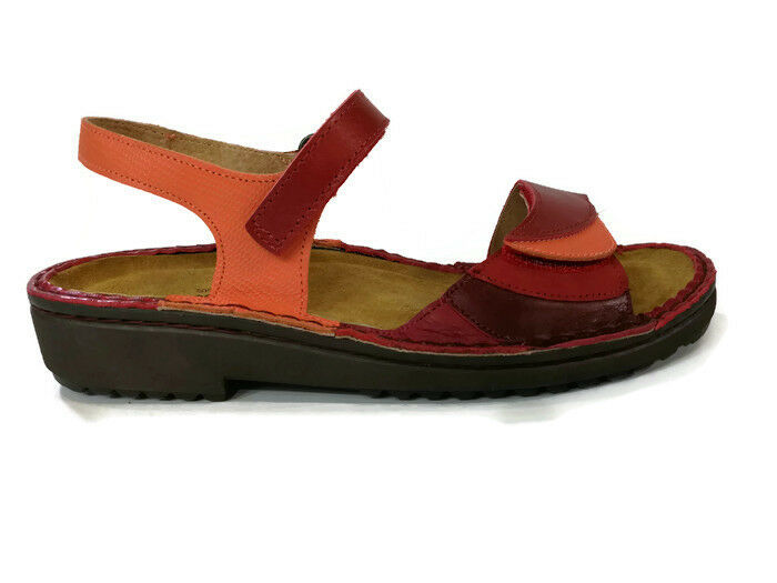 Zapatos de Cuero Naot Tabitha Mujeres Sandalias Gladiador Plano de cuña Correa de Tobillo Nuevo