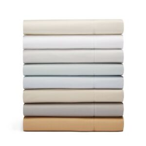 Hudson-Park-600-TC-Egyptian-Cotton-TWIN-Fitted-Sheet-TRUFFLE-Beddding-110-A465