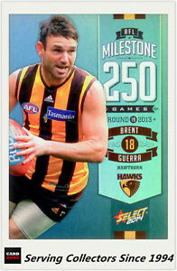 2014-AFL-Champions-Milestone-Holofoil-Card-MG46-Brent-Guerra-Hawthorn