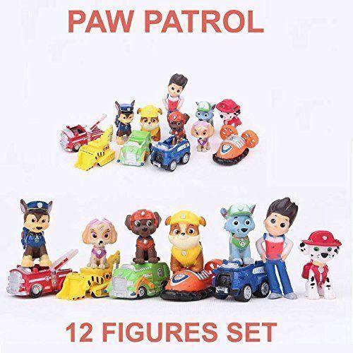 Paw PATROL cake topper Action Figure Cucciolo Cane PATTUGLIA Bambini Giocattolo Regalo 12pc Set
