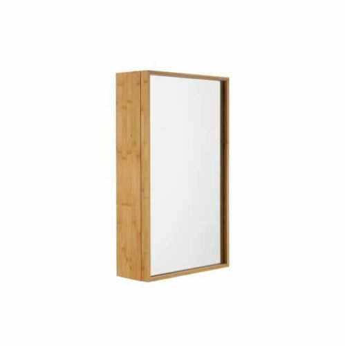 BATHROOM STORAGE SINGLE DOOR CABINET WITH MIRROR WALL MOUNTED FULLY ASSEMBLED