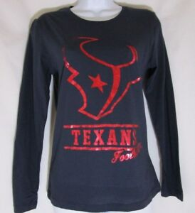 313272ca Details about NWT Women's Houston Texans Football Team Apparel Long Sleeve  T-Shirt Medium