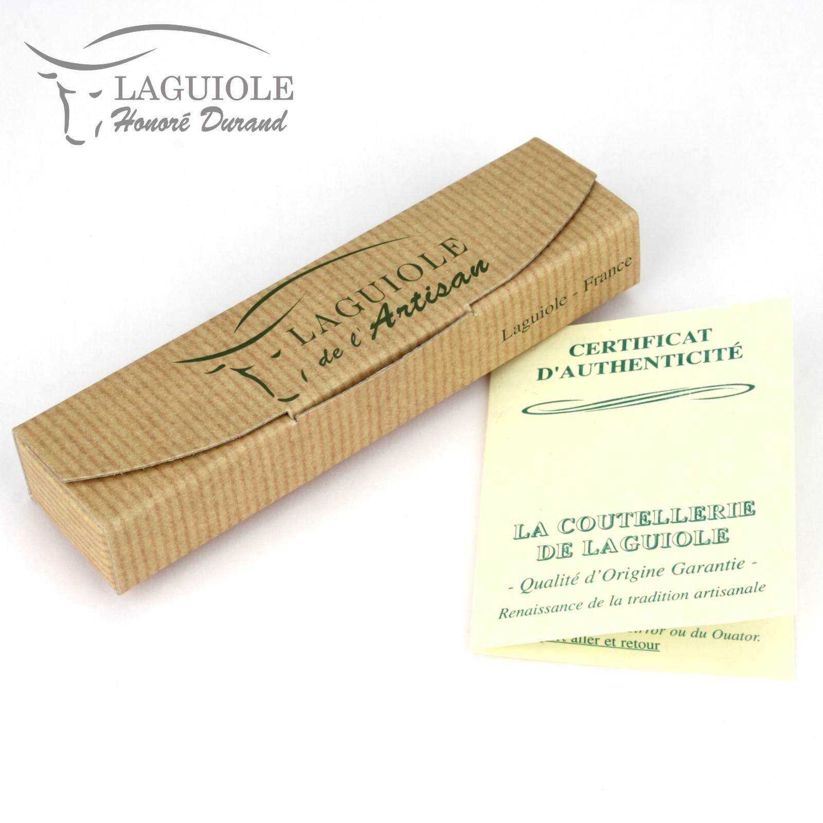 Laguiole Honoré Durand 12 cm cm 12 Taschenmesser Serpent Holz Messer Stahl glänzend 6e3992