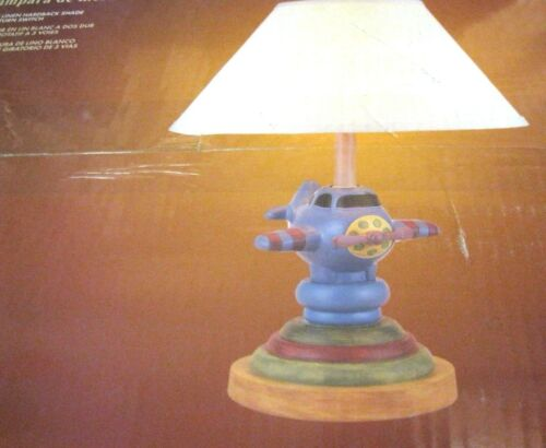 Airplane Plane Table Lamp W Shade Boys Kids Childrens Bedroom - Childrens bedroom table lamps