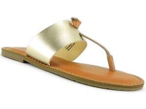 aa07620d81e Rock   Candy Women s Blaney Flat Thong Sandals Gold Size 6.5 M ...