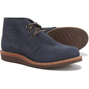 new mens chippewa milford chukka boots shoes navy suede