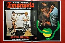 EMANUELLE STYLE A SEXY SYLVIA KRISTEL 1974 RARE EXYU MOVIE POSTER