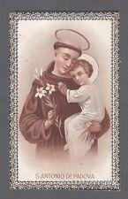 SANT'ANTONIO DI PADOVA 05 SANTINO HOLY CARD IMMAGINETTA RELIGIONE fine '800