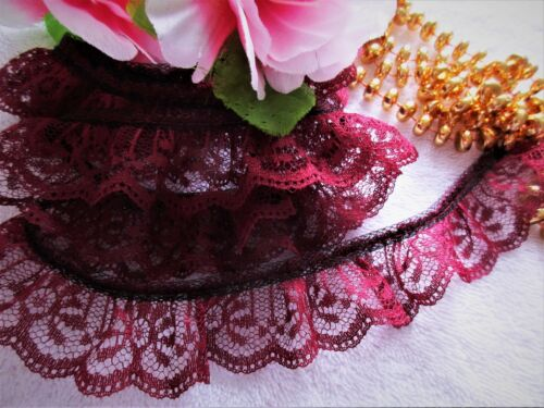 12colors Lovely ruffled lace trim 1 inch wide =PRICE  FOR 1 YARD=// select color//