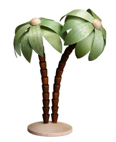 Palmenpaar verde 11,5 cm a mano Seiffen nuevo navidad pesebre Erzgebirge