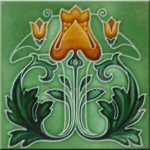 Art Nouveau Reproduction Decorative Ceramic tile 133
