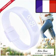 Mode Femme Homme étanche LED digital Sport Bracelet silicone montre-bracelet AH