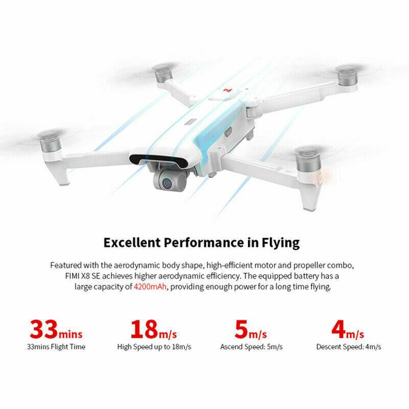 Xiaomi FIMI X8 SE 2020 8KM FPV 4K HDR 3-axis Gimbal GPS Fold RC Drone Quadcopter