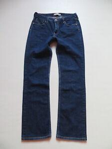 Levi-039-s-Straight-Fit-Jeans-Hose-W-30-L-30-dark-Indigo-mit-gold-farbenem-Knopf