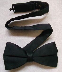 AgréAble Vintage Bow Tie Homme Dickie Nœud Papillon Rétro Réglable Soyeux Noir-afficher Le Titre D'origine Le Prix Reste Stable