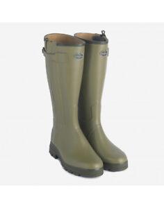 Genuine-Le-Chameau-Men-039-s-Chasseur-Cuir-Wellington-Boots-BCB1178-Clearance