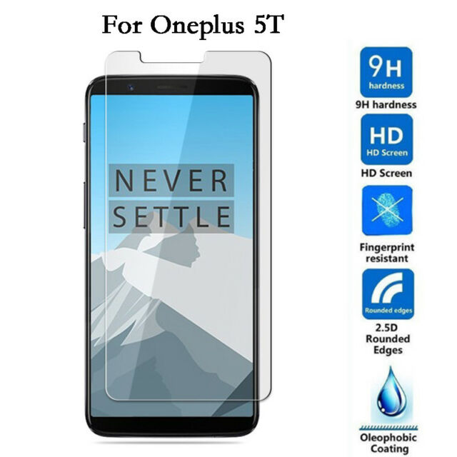 newest collection 403cc b2e58 Premium 2.5d Tempered Glass Film Screen Protector Guard Cover for OnePlus  5t 6