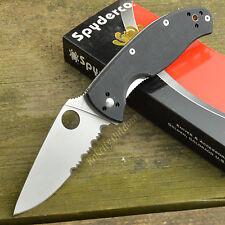 Spyderco Tenacious Part Serrated G-10 Folding Knife C122GPS