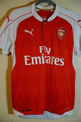 reputable site 96034 b3f1f Puma FC Arsenal 2015/2016 Home Soccer Futbol Dry Cell Jersey Men's Size  Medium   eBay