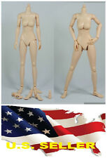 ❶❶1/6 Female Nude Figure Body N002 medium Breast Pale Skin Tone SHIP FROM U.S.❶❶