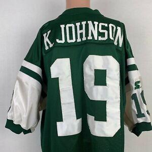 Details about Starter Authentic Keyshawn Johnson New York Jets Jersey Vtg 90s NFL Pro Line 52