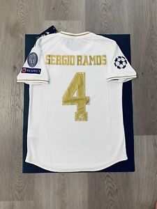 free shipping 052b3 f18b2 Details about Sergio Ramos Soccer Jersey Player Version Real Madrid Home  19/20 Large
