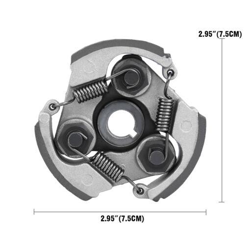 2x Mini Moto Racing Bike 3 Shoe Clutch 2 Stroke Minimoto Pocket Race 47cc 49cc
