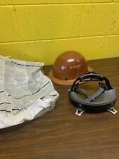 Msa Skullgard Fiberglass Fb Hard Hat With Ratchet Or Pin Lock Susp Natural Tan