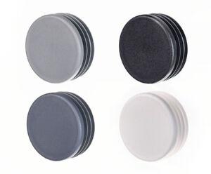 10 Stck Rundstopfen 22 mm Grau Kunststoff Endkappen Verschlusskappen